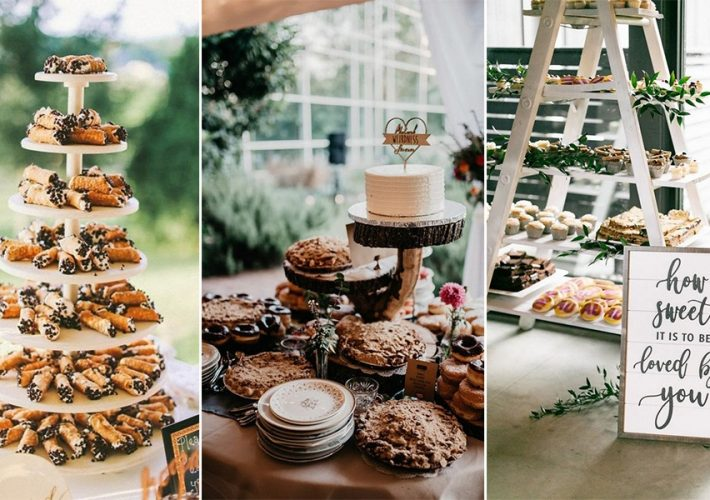 trending wedding dessert table and bar ideas