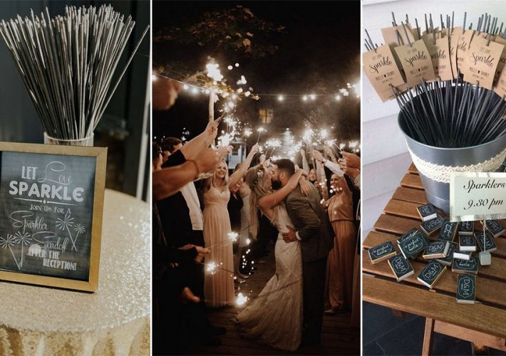 wedding sparklers send off ideas